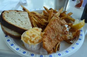 Fish & Chips with fresh baked bread